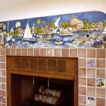 """Fireplace Surround Hand Built Tiles """"Harbor Charlevoix"""" 15""""x90"""""""