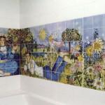 "Tile Mural ""Picnic"" 36""x120"""