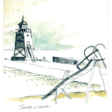 Charlevoix lighthouse Sketch