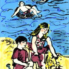 Grandchildren at the Beach