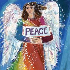 Rainbow Peace Angel