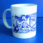 Right Side - Blue & White Ceramic Mug