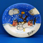 A Snowman in Paradise Soap Dish by Sue Bolt