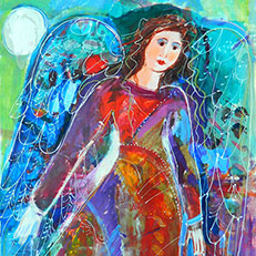Angel for All Seasons - Painting by Sue Bolt