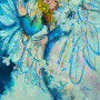 Angel of the First Frost Painting by Sue Bolt