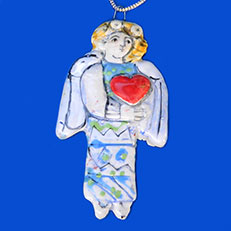 Angel of Love Ornament by Sue Bolt