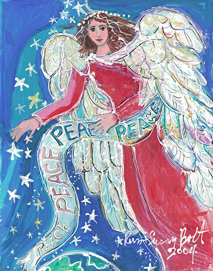 Let There Be Peace on Earth Original Painting by Sue Bolt