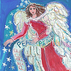 Let There Be Peace on Earth Angel Print by Sue Bolt