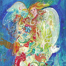 Angel of the South Original Painting by Sue Bolt
