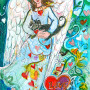 Annie's Angel - Angel Painting by Sue Bolt