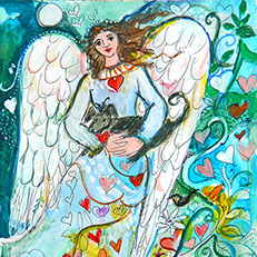 Annie's Angel - Angel Painting