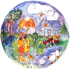 April - Circle Painting