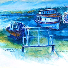 Beaver Island Boats - Watercolor Painting