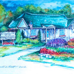 Belvedere Golf Club - Watercolor Painting by Russ Bolt