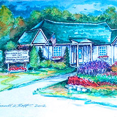 Belvedere Golf Club - Watercolor Painting