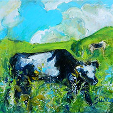 Cow Painting by Sue Bolt