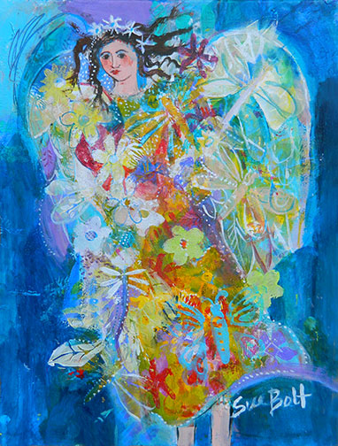 Busy Eloise Angel Painting by Sue Bolt