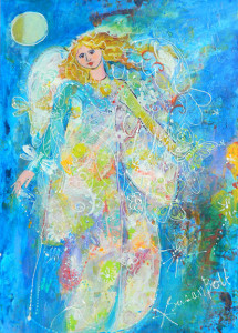 Butterfly & Dragonfly Angel by Sue Bolt