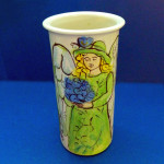 Cassandra and the Blue Bouquet Vase by Sue Bolt