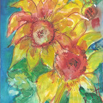 Cindy's Sunflowers Print by Sue Bolt