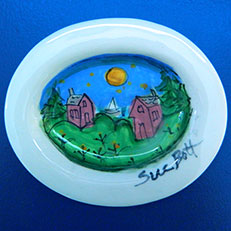 Hand Painted Ceramic Soap Dish