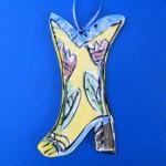 Cowboy Boot Ornament by Lori Bolt