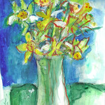 Daffodils Original Painting by Sue Bolt