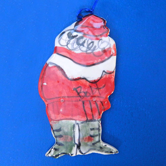 Delivery Time! Santa Ornament by Sue Bolt
