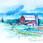 Ellsworth Barn - Watercolor Painting by Russ Bolt