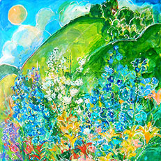 Field of Dreams - Painting by Sue Bolt
