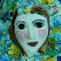 Flower Guardian Angel Face Wall Sculpture By Sue Bolt