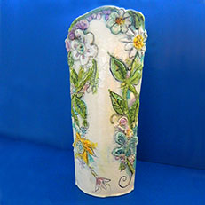 Garden of Daisies - Tall Vase by Sue Bolt