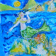 Mermaid Painting by Sue Bolt
