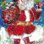 Here Comes Santa Claus Original Painting by Sue Bolt