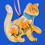 Here Kitty Kitty Yellow Cat Ornament by Sue Bolt