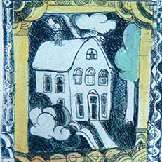 Home - Etching by Sue Bolt