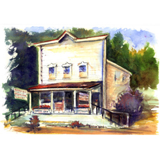 Horton Bay General Store Original Painting by Russ Bolt