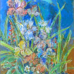 Irises Print by Sue Bolt