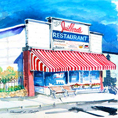 Juilleret's of Harbor Springs - Watercolor Painting by Russ Bolt