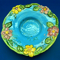 June Flowers Sculptural Bowl by Sue Bolt