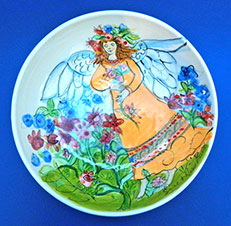 Kimmy's Garden Angel - Bowl by Sue Bolt