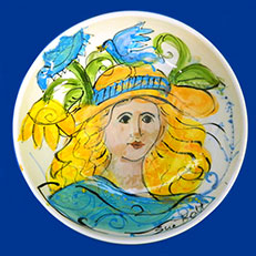Lady Blue Bird - Bowl by Sue Bolt