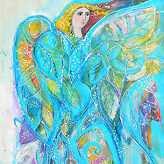 Linda's Angel Painting by Sue Bolt