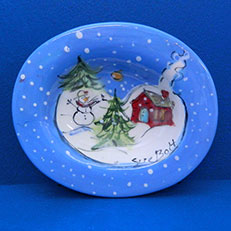 Little Red School House Soap Dish by Sue Bolt