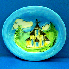 Little Yellow Church Up North Soap Dish by Sue Bolt