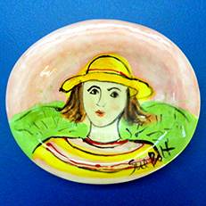 Maud Has a Yellow Outfit Soap Dish by Sue Bolt