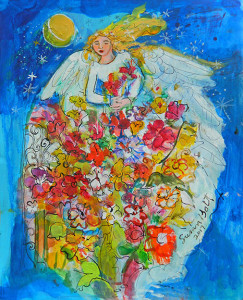 Morning Glory - Angel Painting by Sue Bolt