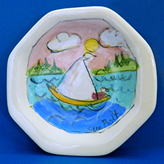 My Happy Place Small Octagonal Plate by Sue Bolt