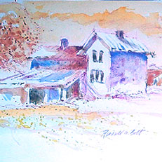 Nettie's House - Watercolor Painting