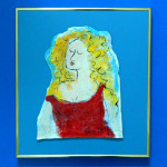 Opera Singer Large Framed Tile by Sue Bolt